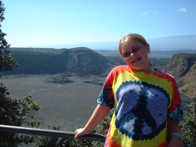 Lookin out into the Kilauea-iki crater