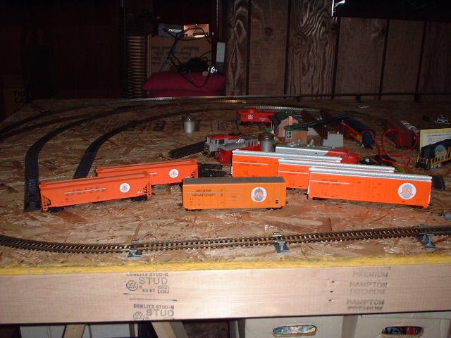 the bare bones of a railroad layout